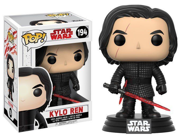 Funko Pop Kylo Ren: Star Wars: Os Últimos Jedi (The Last Jedi) #194 - Funko
