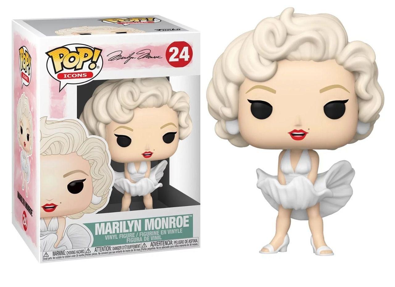 PRÉ VENDA: Funko Pop! Marilyn Monroe - Vestido Branco (White Dress): Icons #24 - Funko
