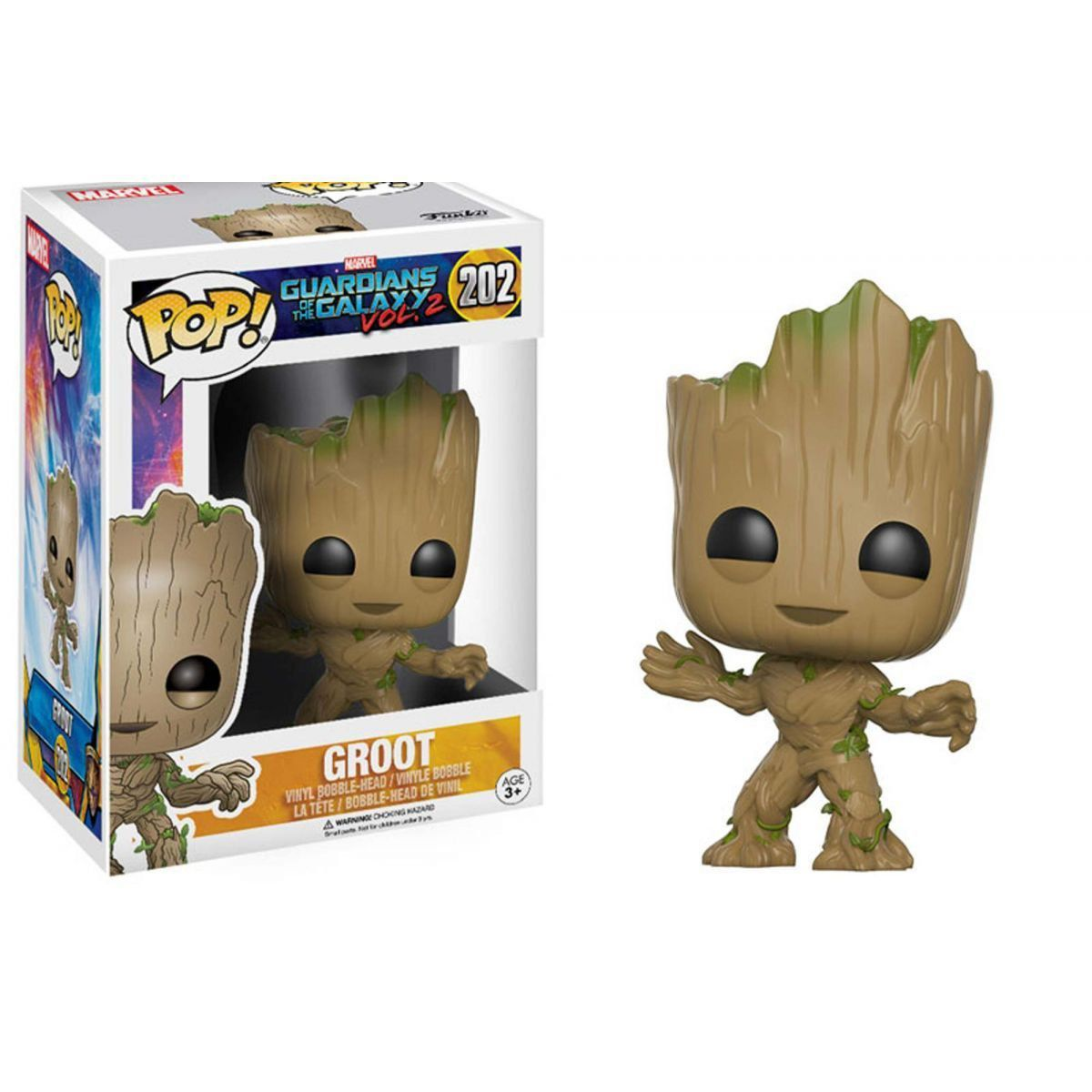 Funko Pop Groot: Guardiões da Galaxia Vol. 2 #202 - Funko