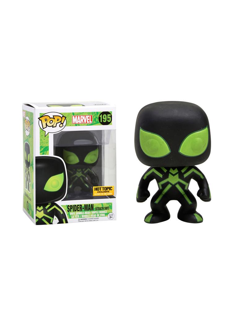 POP! Marvel: Spider-Man (Stealth Suit)  #195 - Funko (EXCLUSIVO)