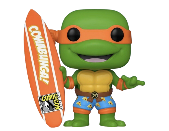 PRÉ VENDA: Funko Pop! Michaelangelo Prancha De Surf:  Tartarugas Ninjas: (Teenage Mutant Ninja Turtles): Edição Limitada - Funko (Exclusivo SDCC 2020)