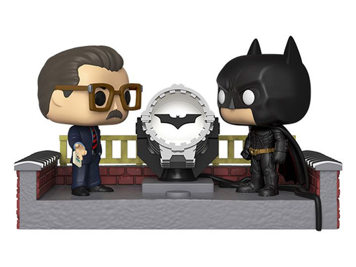 PRÉ VENDA: Funko Pop! Movie Moment Batman e James Gordon Com Bat-Sinal: Batman Begins 2005 (80th Dark Knight) - Funko