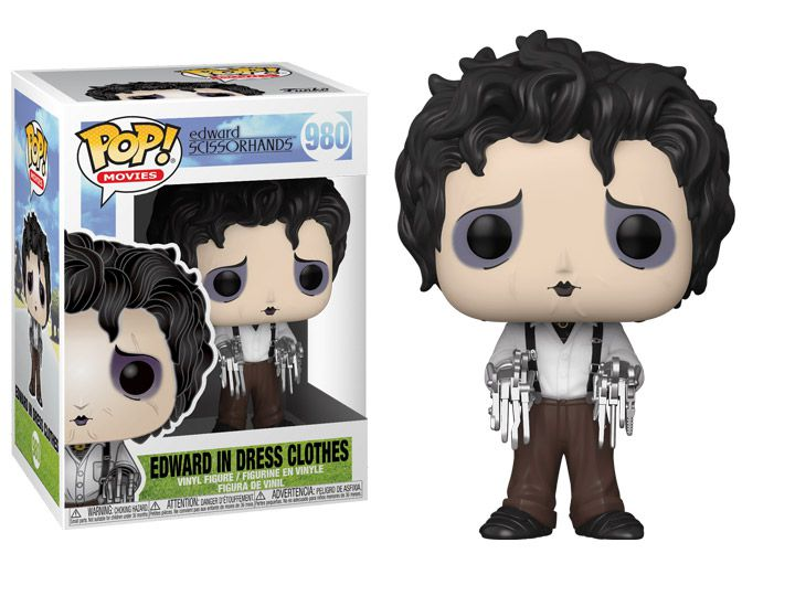PRÉ VENDA: Funko Pop! Movies: Edward Scissorhands #980: Edward in Dress Clothes: Edward Mãos de Tesouras: (Edward Scissorhands) - Funko