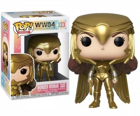 Funko  Pop! Mulher-Maravilha (Wonder Woman) Armadura Dourada (Golden Armor): Mulher-Maravilha 1984 (Wonder Woman 1984) #323 - Funko