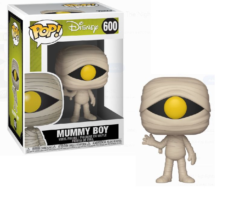 PRÉ VENDA:Funko Pop! Mummy Boy: O Estranho Mundo de Jack (Nightmare Before Christmas) #600 - Funko