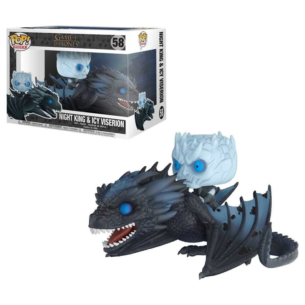 Funko Pop Night King no Viserion (Night King On Dragon): Game of Thrones (Exclusivo) #58 -  Funko