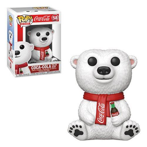 Funko Pop! O Urso Polar (The Polar Bear): Coca-Cola #58 - Funko