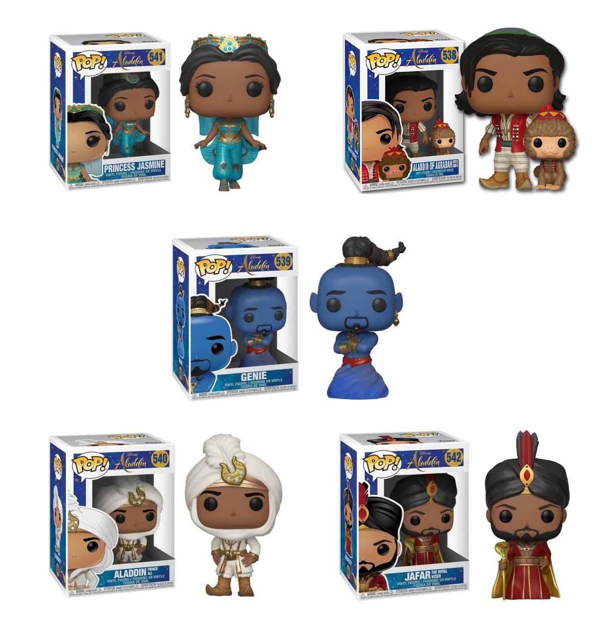 PRÉ VENDA: Pack Funko Pop! Aladdin 2019 (Agrabah With Abu) - Set de 5 - Funko