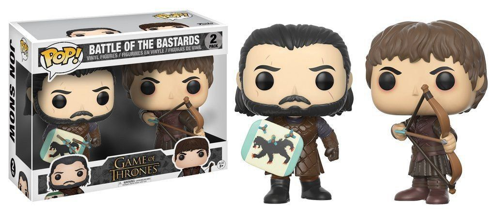 Funko Pop Pack Batalha dos Bastardos (Battle of the Bastards): Game Of Thrones Exclusivo #2 - Funko - Jon Snow e Ramsay Snow