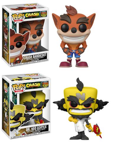 PRÉ VENDA: Funko Pop Pack Games Crash Bandicoot (Set de 2) - Funko