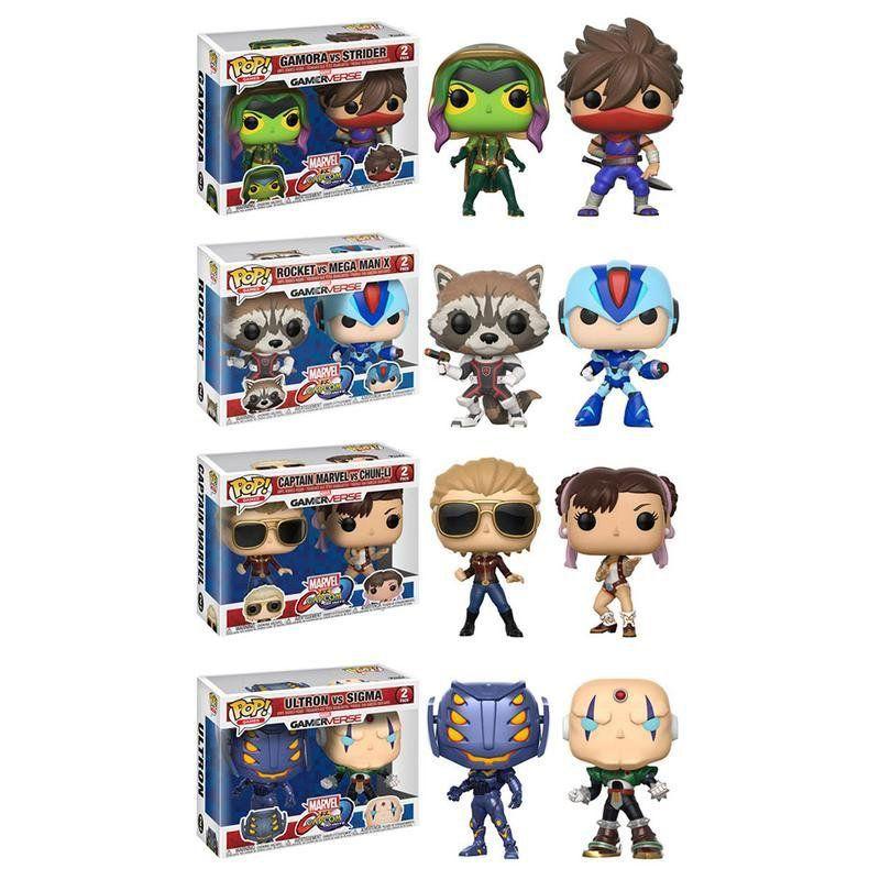 PRÉ VENDA: Funko Pop Pack Marvel vs. Capcom Infinite (Set de 4 com 2 Pops) - Funko