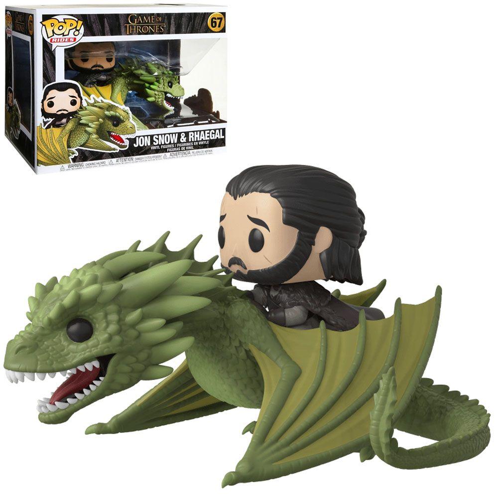Funko Pop! Ride Jon Snow (On Rhaegal): Game of Thrones #67 - Funko
