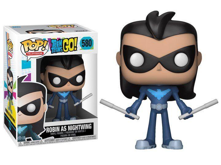 PRÉ VENDA: Funko Pop Robin As Nightwing: Teen Titans Go! #580 - Funko