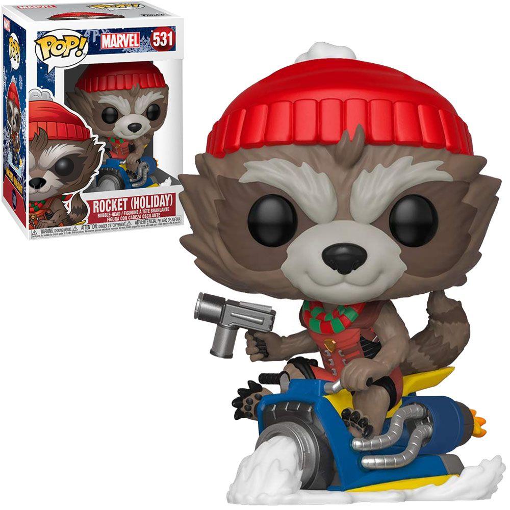 Funko Pop! Rocket Raccoon: Marvel (Holiday) #531 - Funko
