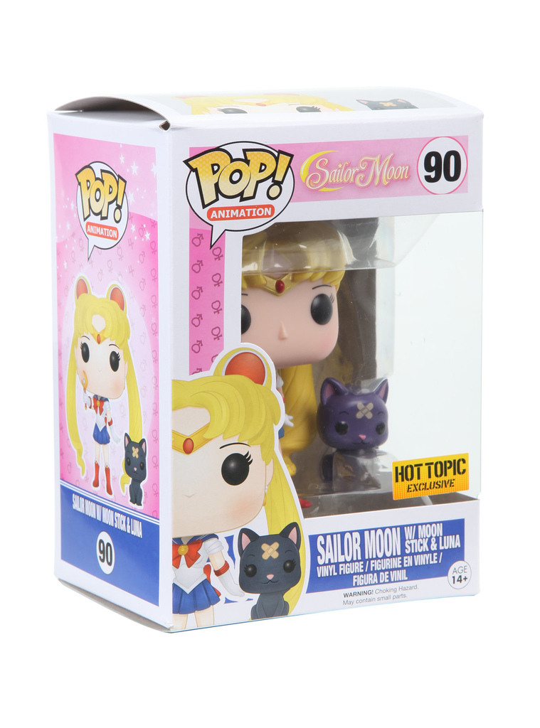 Funko Sailor Moon With Moon Stick & Luna Exclusive: Sailor Moon #90 - Pop Funko (EXCLUSIVO)
