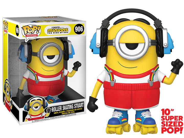 PRÉ VENDA: Funko Pop! Stuart de Patins (Roller Skating) Sized 10'': Minions 2 (Exclusivo) #906 - Funko