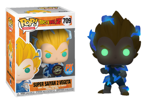 PRÉ VENDA: Funko Pop! Super Saiyan 2 Vegeta (Chase GITD): Dragon Ball Z (Exclusivo) #709 - Funko