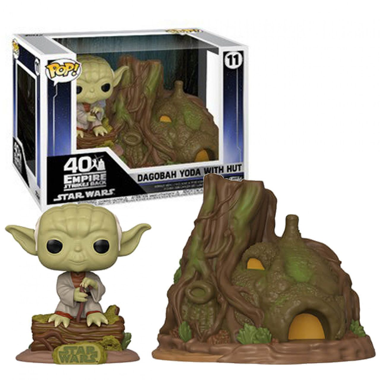 Funko Pop! Dagobah Yoda With Hut: O Império Contra-Ataca (The Empire Strikes Back) Star Wars #11 - Funko