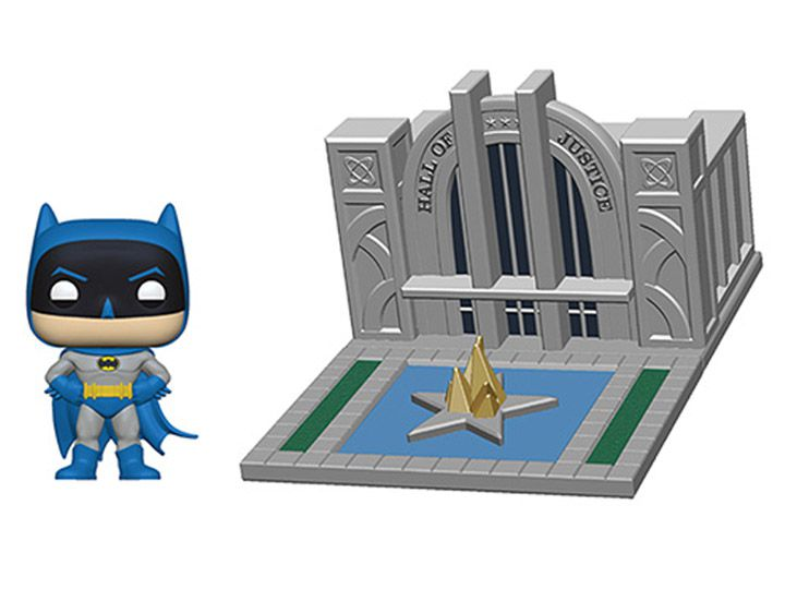 PRÉ VENDA: Pop! Town Sala de Justiça & Batman (Hall of Justice): 80th Anniversary - Funko