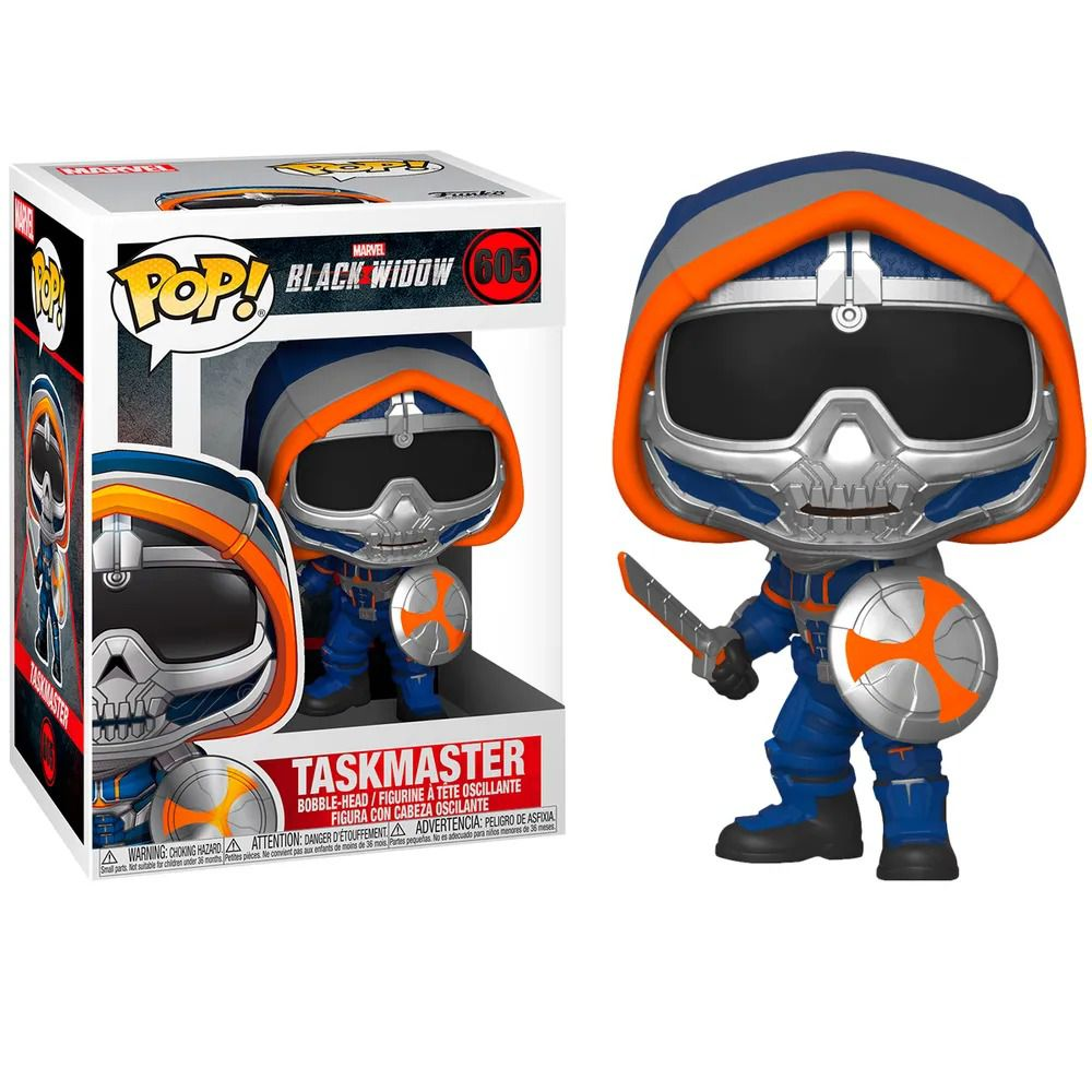 Funko Pop! Treinador com Escudo (Taskmaster with Shield): Viúva Negra (Black Widow) #605 - Funko