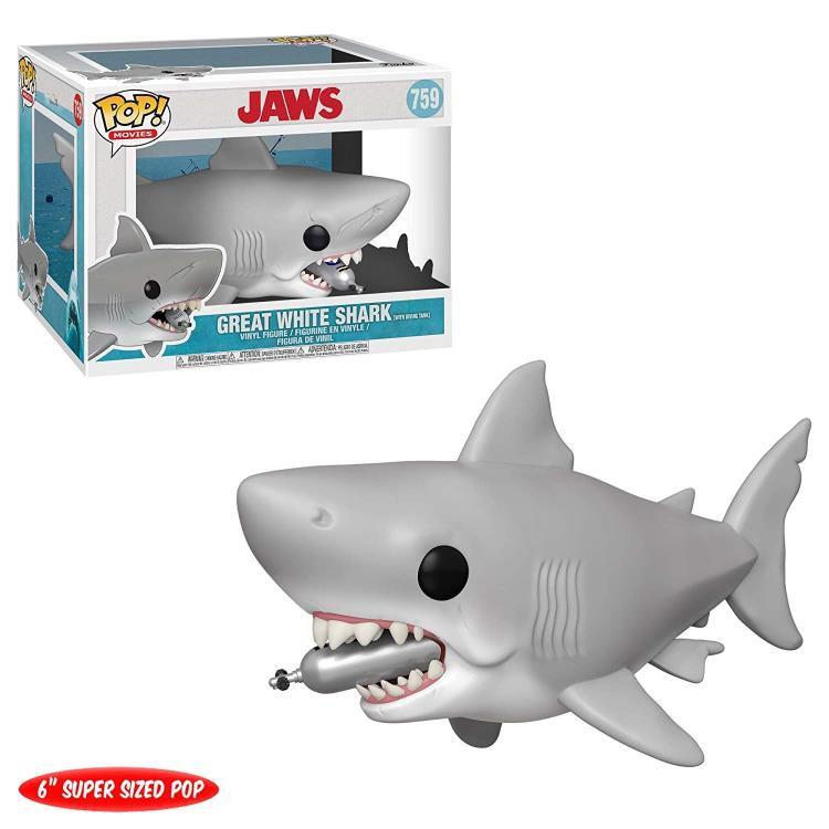 Funko Pop! Tubarão Branco (Great White Shark) Tanque de Mergulho: Tubarão (Jaws) #759 - Funko