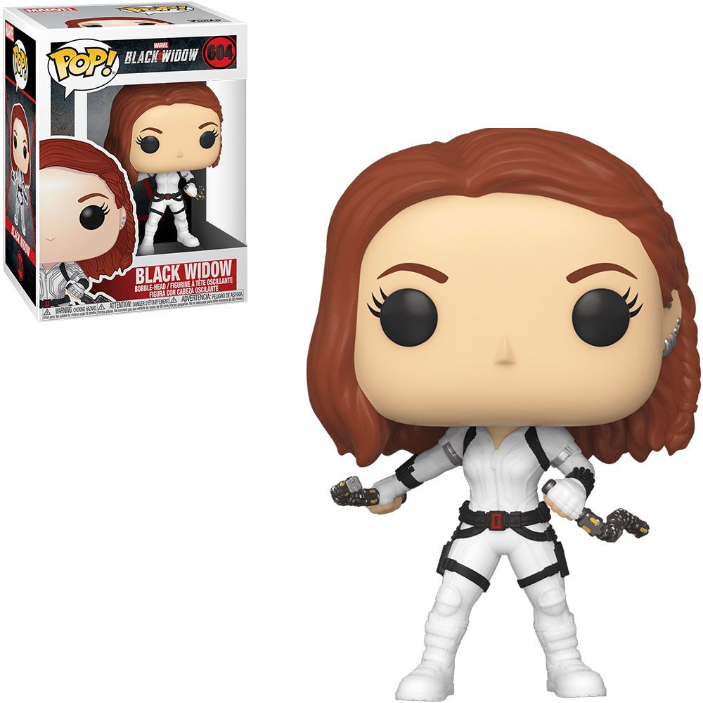 Funko Pop! Viúva Negra com Traje Branco (Black Widow White Suit): Viúva Negra (Black Widow) #604 - Funko
