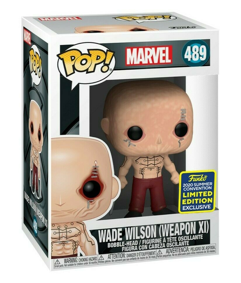 Funko Pop! X-Men Origens-Wade Wilson (arma Xi): X-Men (Marvel): Edição Limitada #489 - Funko (Exclusivo SDCC 2020)