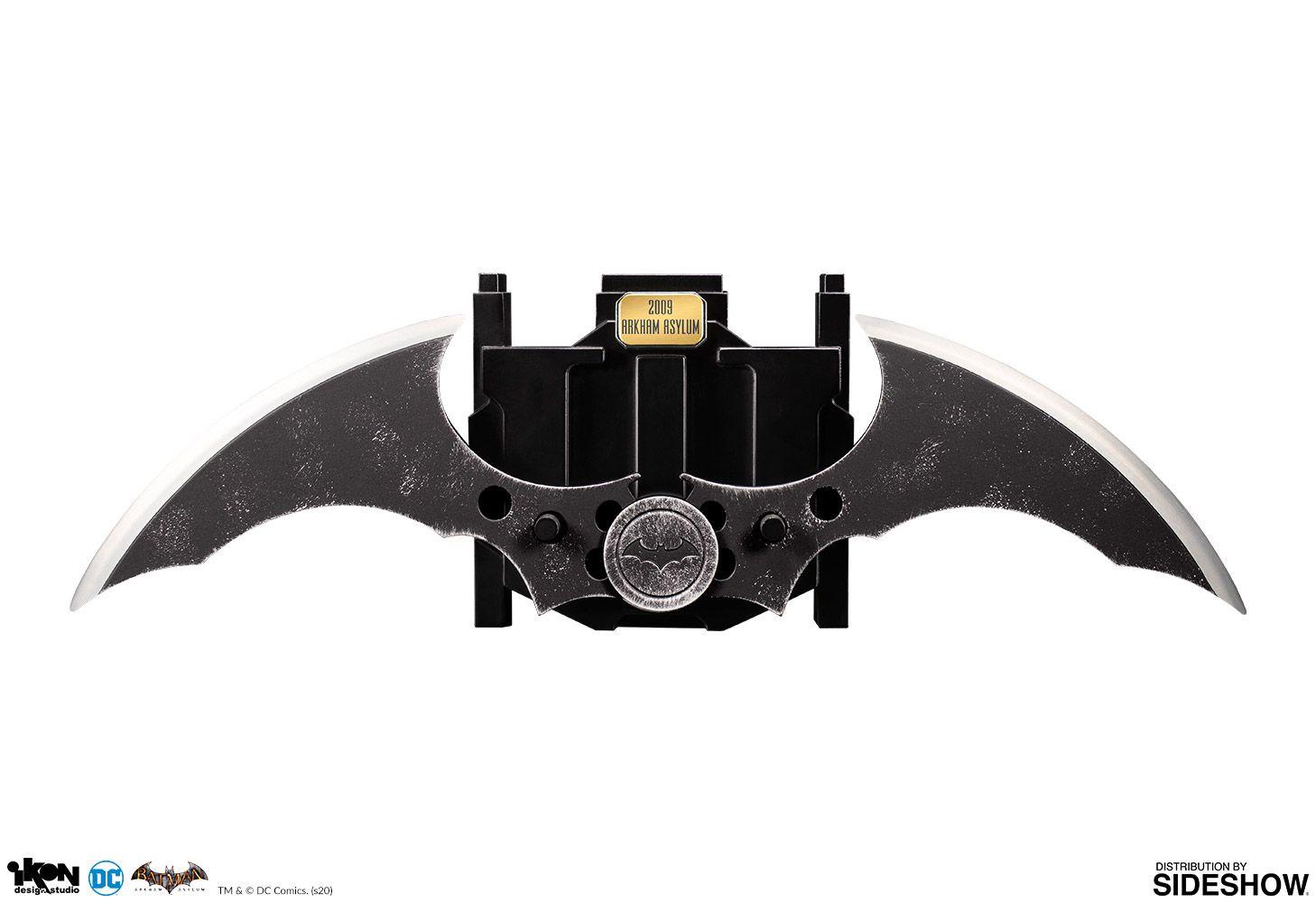 PRÉ VENDA: Réplica Batarang Die Cast: Batman Arkham Asylum - Ikon Design Studio