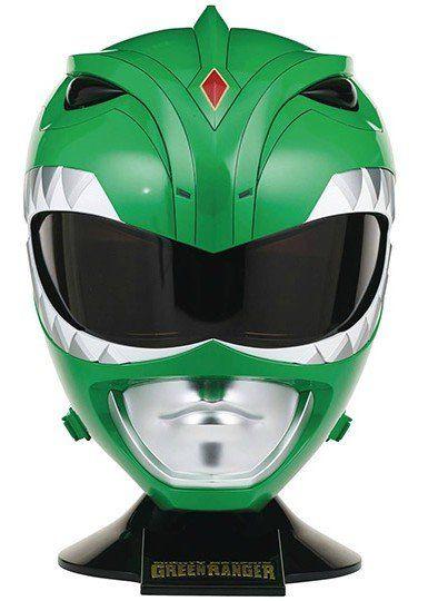 Réplica Capacete Ranger Verde (Green Ranger): Mighty Morphin Power Rangers: Legacy Escala 1/1- Bandai