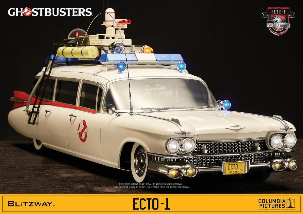PRÉ VENDA: Réplica Ecto-1: Ghostbusters (1984) 1/6 - Blitzway