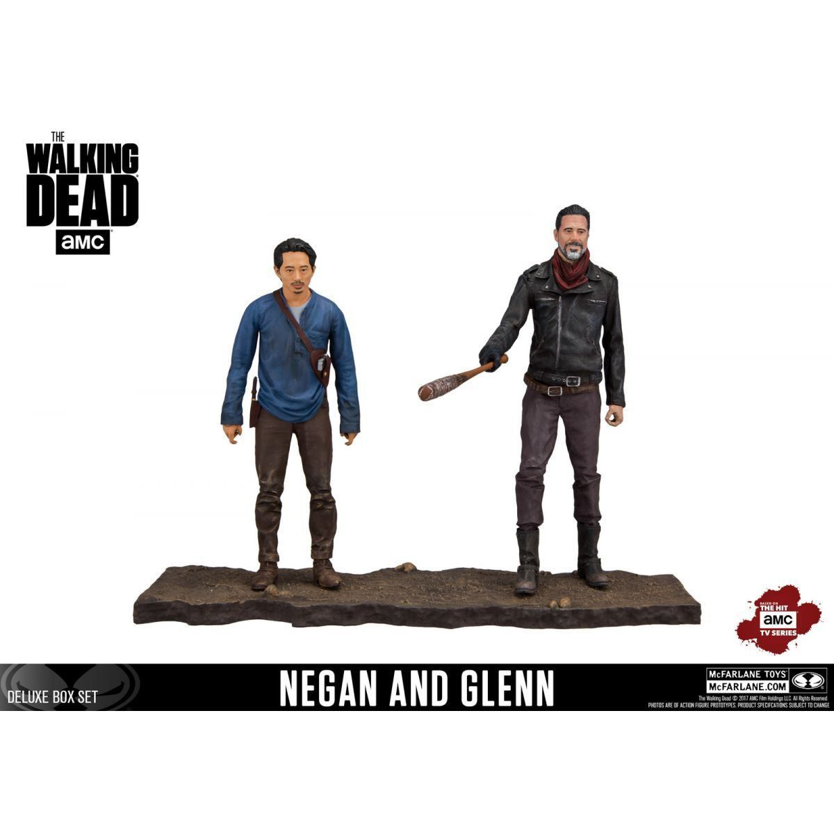 Boneco Negan & Glenn: The Walking Dead Deluxe Box Set Escala 1/10 - Mcfarlane Toys