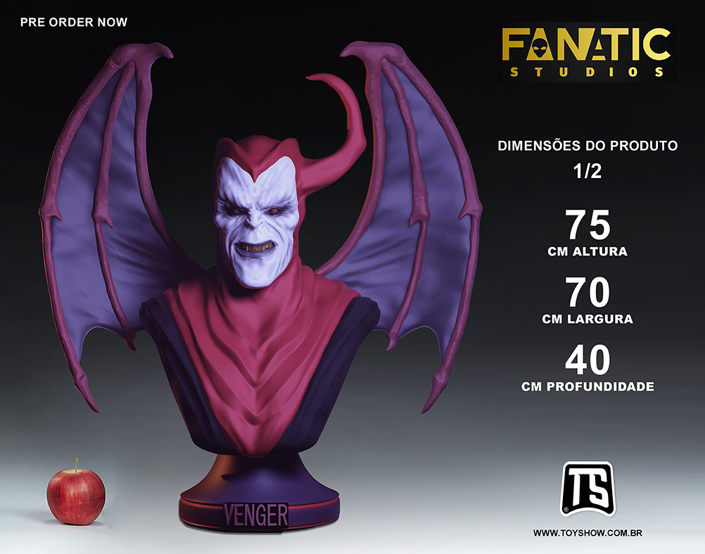 PRÉ VENDA: Venger Legendary Edition 1/2 - Busto Vingador Caverna Do Dragão - Fanatic Studios - EV
