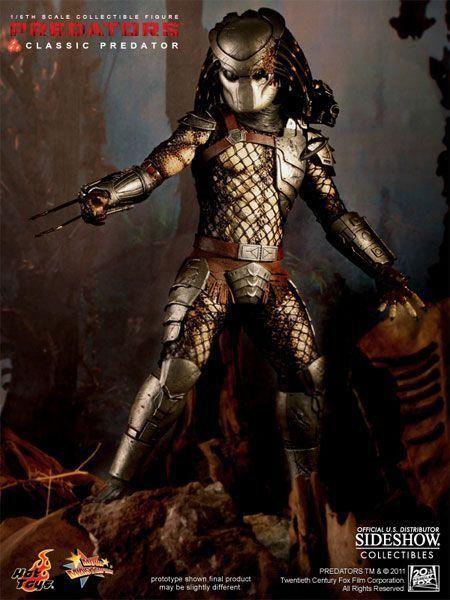 Action Figure Predators Classic: Predador Escala 1/6 (MMS162) - Hot Toys