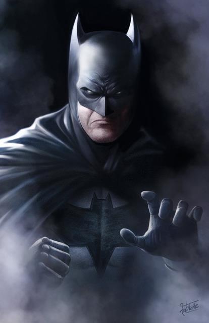 Print: Batman Poster - Fabio Valle