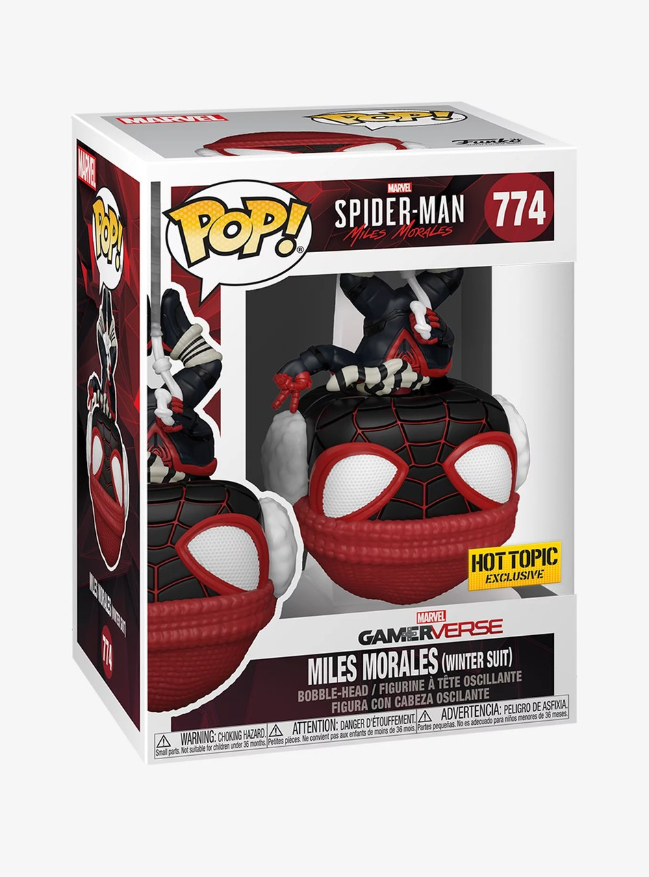 Funko Pop! Games: Marvel's Spider-Man Miles Morales - Winter Suit Exclusivo Funko Fair #774 -  Funko