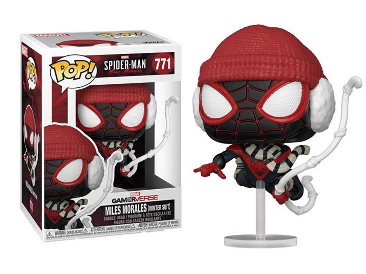 Funko Pop! Games: Marvel's Spider-Man Miles Morales Winter Suit Exclusivo Funko Fair -  Funko