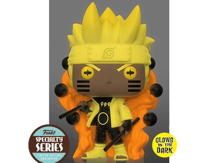Funko Pop! Uzumaki Naruto Seis Caminhos: Naruto Shippuden - Glow Funko Fair Anime Manga - Funko