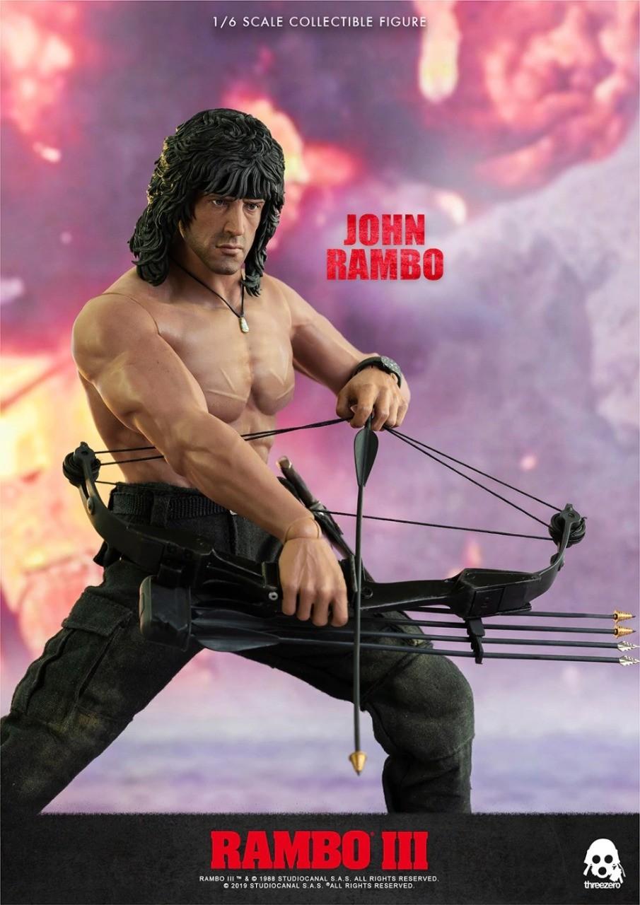 Action Figure Rambo 3: O Jogo  John J. Rambo Jacket Version Escala 1/6 - Threezero