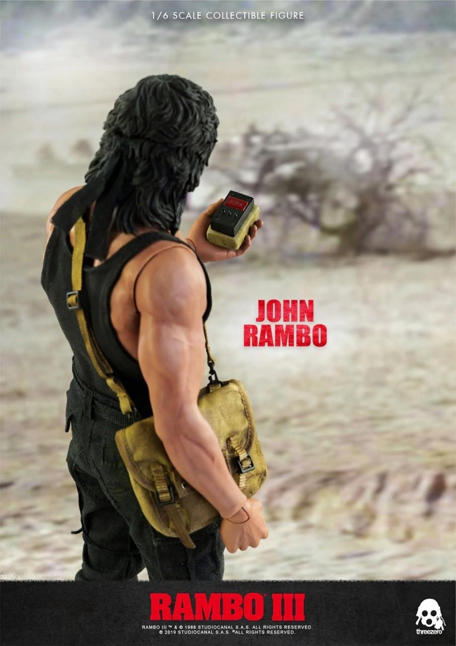 Rambo 3: O Jogo  John J. Rambo Jacket Version Escala 1/6 - Threezero- EV