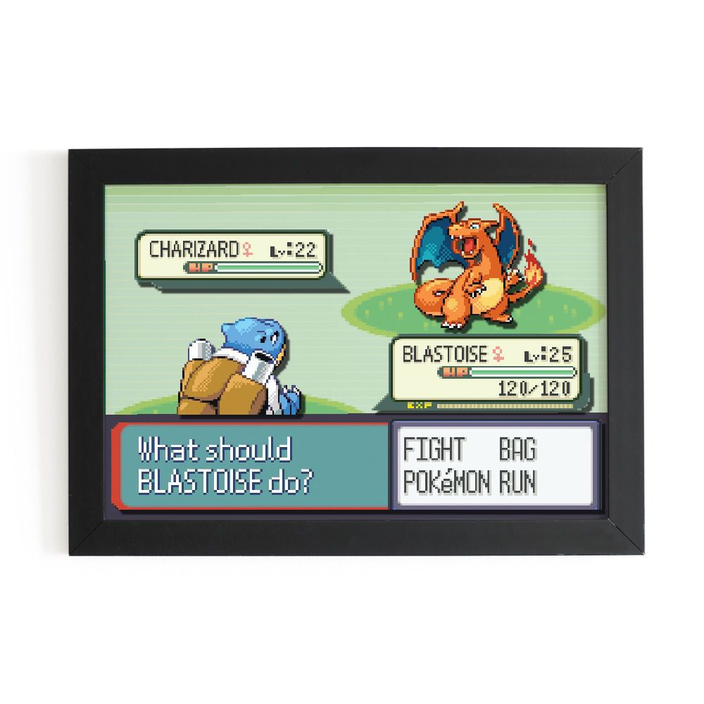 Quadro 3D: Batalha Pokémon - EV