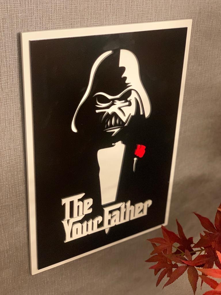 Quadro 3D: Darth Vader (Poderoso Chefão)