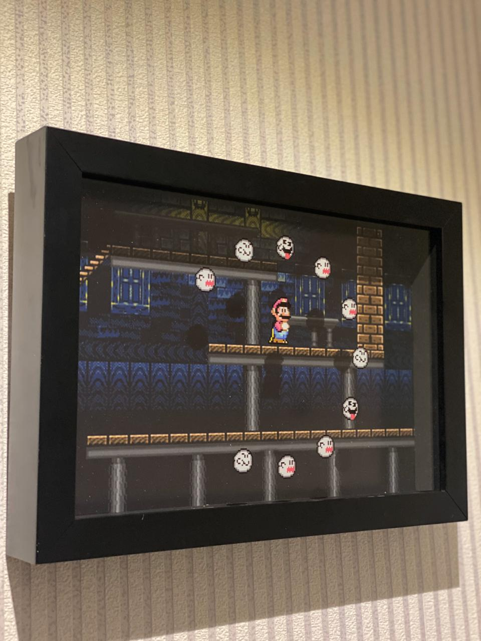 Quadro 3D Fantasmas: Super Mario World