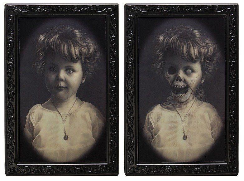 Quadro 3D Halloween: Menina Zumbi
