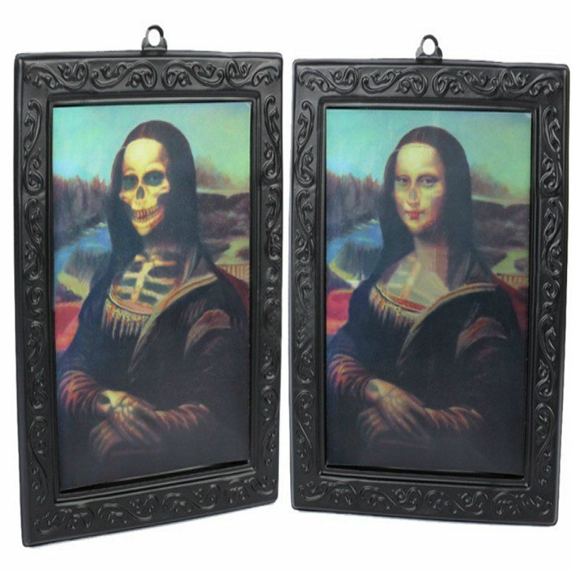 Quadro 3D Halloween: Mona Lisa Caveira