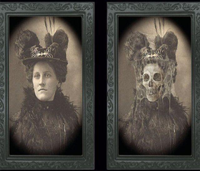 Quadro Halloween: Mulher de Chapéu