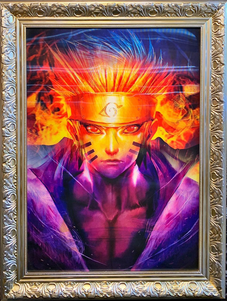 Poster (Quadro) 3D Lenticular (Com Moldura) Naruto: Naruto Shippuden (80x60)