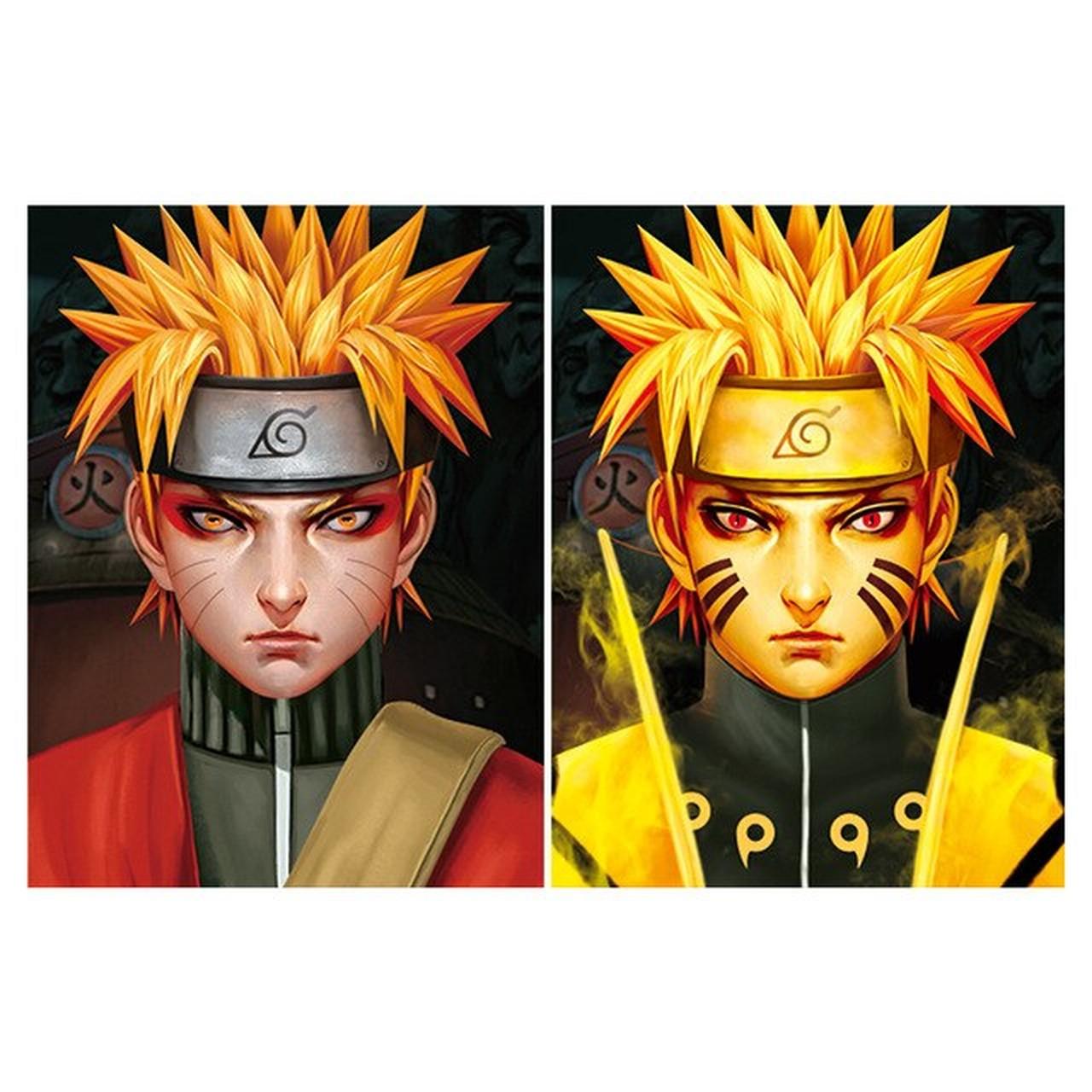 Quadro Com Moldura  3D Lenticular: Naruto Modo Sennin & Naruto Modo Sennin Kurama: Naruto Shippuden (40x30)