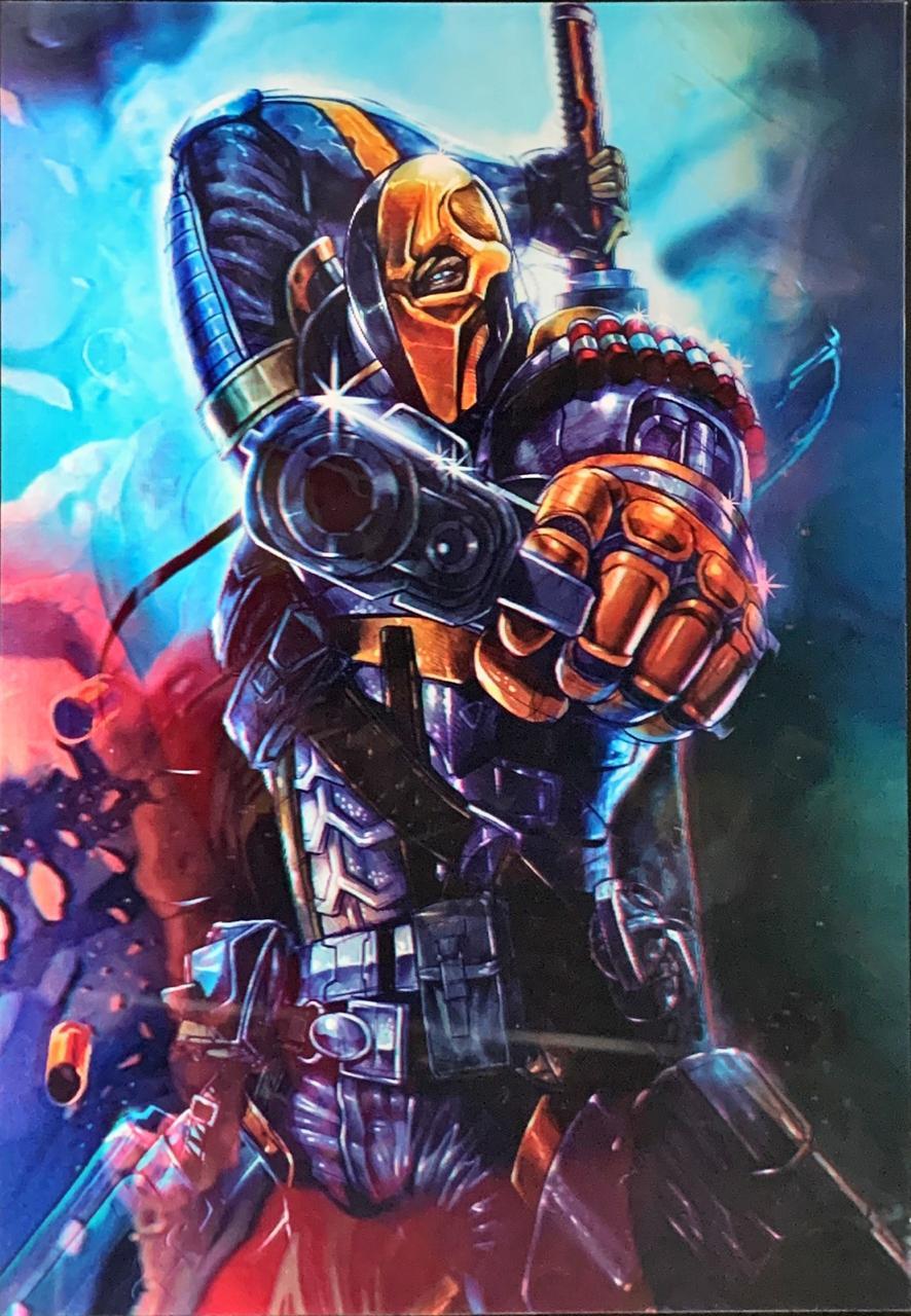 Quadro 3D Lenticular: Deadpool Vs Deathstroke (43x30)