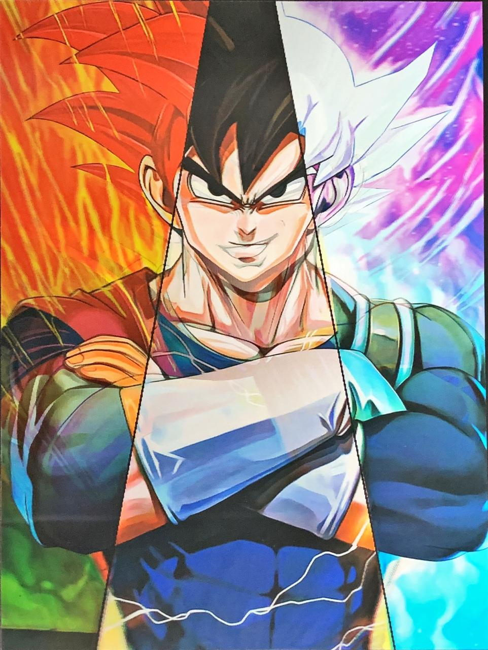 Quadro 3D Lenticular: Goku & Vegeta: Dragon Ball Z (40x30)