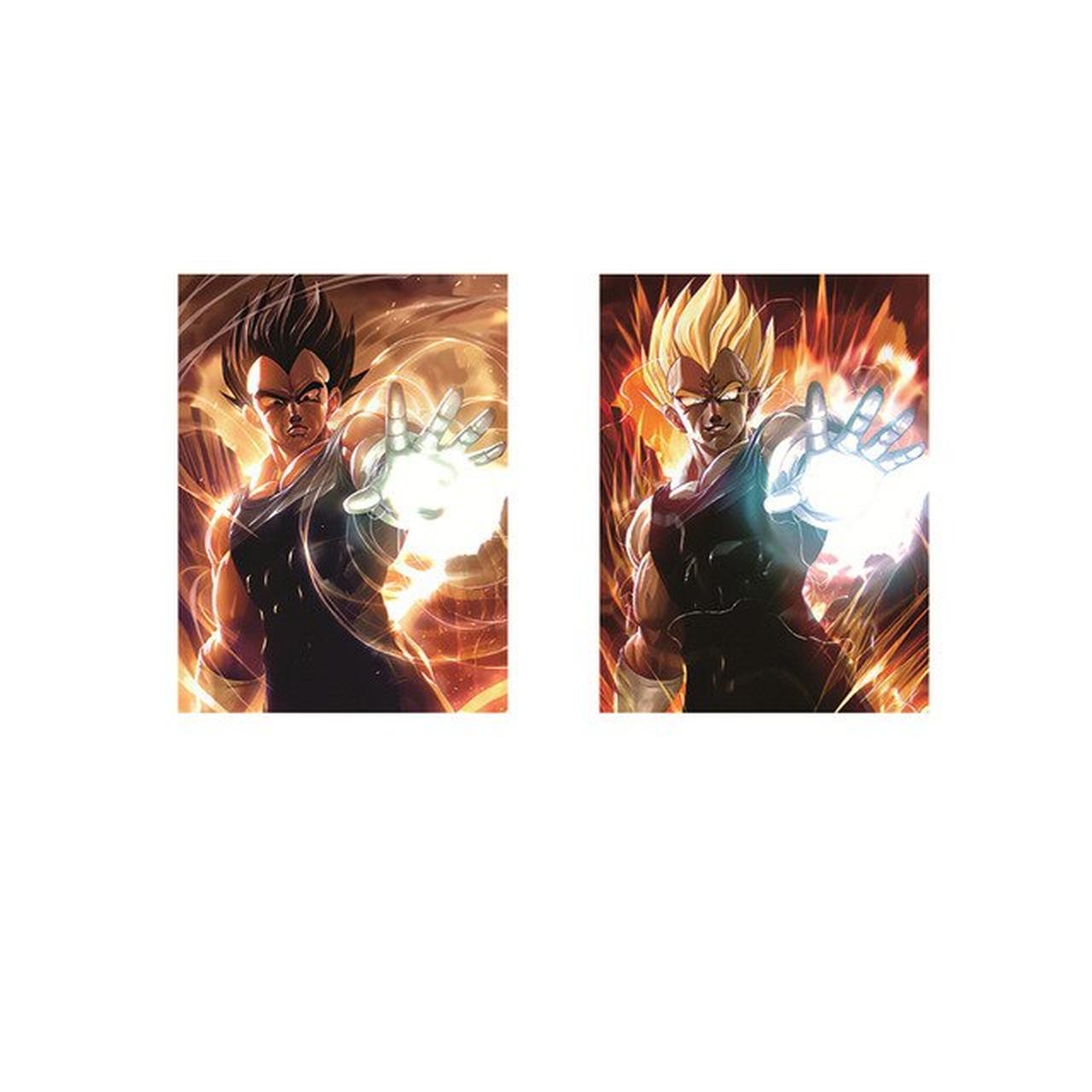 Quadro 3D Lenticular: Vegeta & Majin Vegeta: Dragon Ball Z (40x30)
